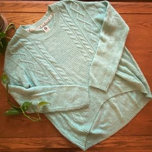 Mint High-Low Sweater